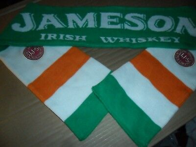 Jameson Scarf Flag Wiskey Irish Colors JJ&S Patched Authentic Very Rare Collect