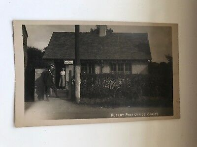 RUBERY POST OFFICE, Worcestershire Real Photograph Postcard c.1920s
