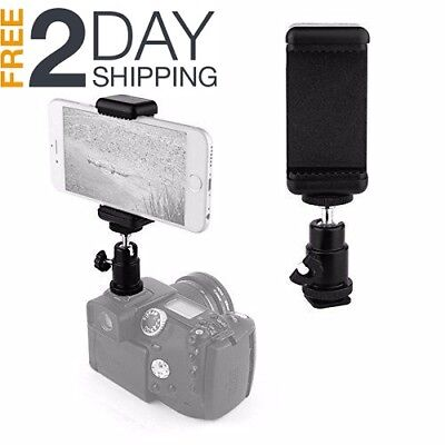 Hot Shoe Mount Adapter Kit- Attach Your Phone - Flash Mount DSLR Camera