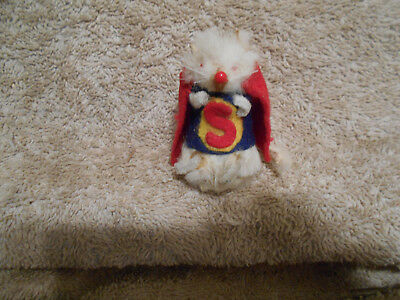 The Little Mouse Factory Real Fur Superman Mouse Handdressed USA