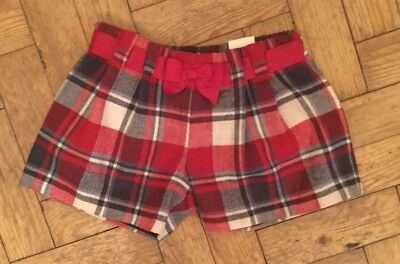 Mayoral Checked Shorts Size 8Yrs New