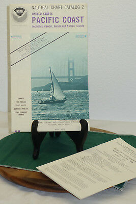 Vintage NOAA April 1979 Nautical Chart Catalog 2 United States PACIFIC COAST Haw