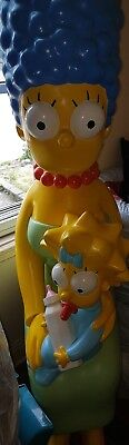 Rare Simpsons Statue life size Marge&Maggie Simpson