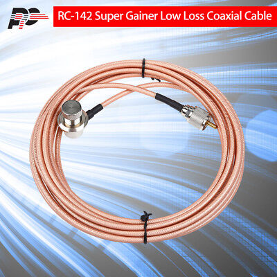 PROTEC RC-142 Super Gainer Low Loss Coaxial Extension Cable 5m/13ft for YAESU