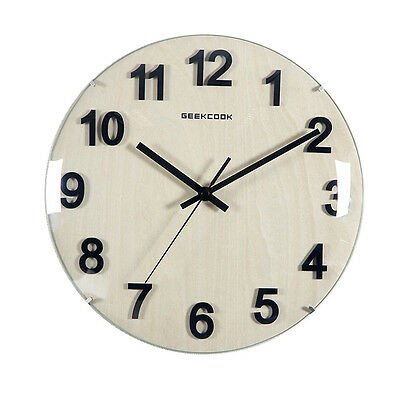 Modern Large London Clock Kitchen Company Wood Wall Clock 30cm Pointer Silent