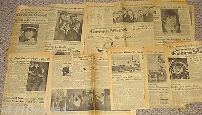 The BEATLES 1964 Milwaukee Newspaper Photo Articles Clippings 9pc Lot Scrapbook