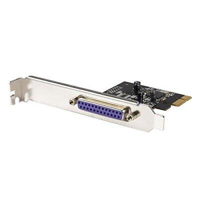 StarTech.com 1 Port PCI Express Dual Profile Parallel Adapter Card -...