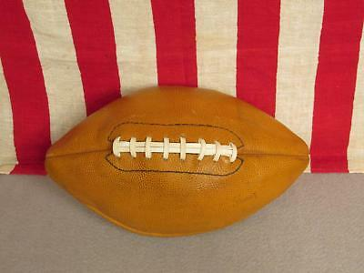 Vintage 1930s Leather Football with Laces Great Display! NOS Spalding Antique