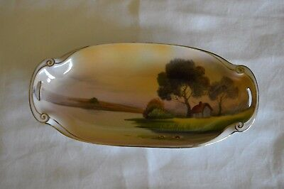 Noritake Morimura Bros Pickle Dish / Bowl Hand Painted Vintage