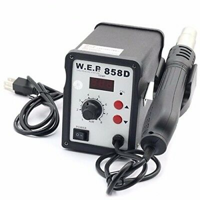 WEP 858D Hot Air Gun Solder Rework/Reflow Station - USED