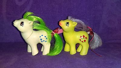 My Little Pony G1 Argentina Pony Lot with Baby Moondancer & Baby Posey