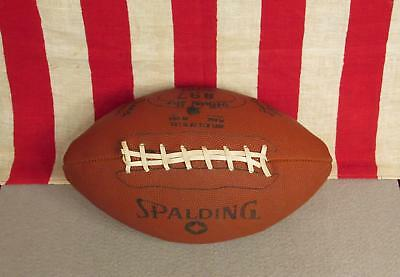 Vintage Spalding Official Dura Hyde Football with Laces 897 Great Display Ball!