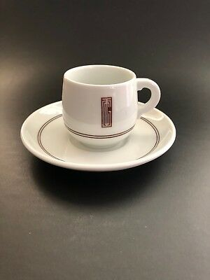 CGT Normandie Service Neuilly by Jean Luce c. 1935 Limoges Demitasse and Saucer