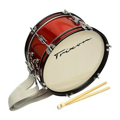 """Trixon Junior Marching Bass Drum 16 by 7"""" Red Sparkle"""