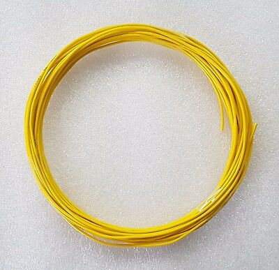 10M YELLOW 26AWG Tinned Light Duty Hookup Wire Cable 7/0.16mm 1.5 Amp MAX