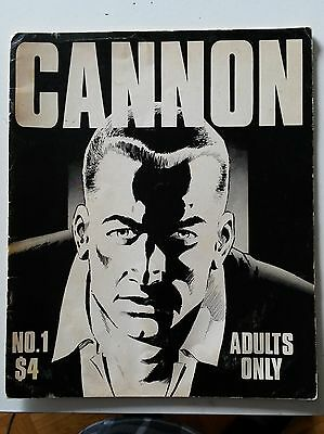 CANNON #1 Rare WALLY WOOD 1st. issue GIANT size black and white Free shipping!