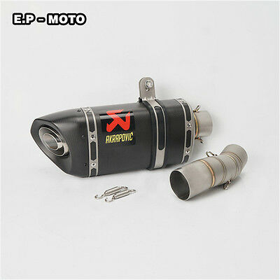 For  Kawasaki ZX-6R 2009-2014  Modified Carbon Fiber Inlet 51MM Akrapovic Exhaus