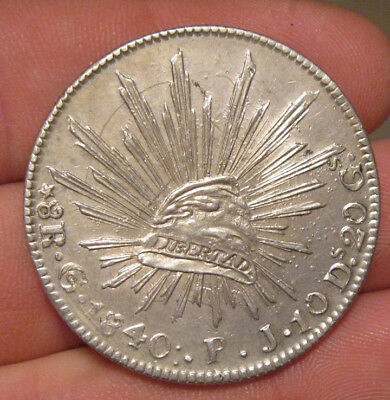 Mexico - 1840 GoPJ  Large Silver 8 Reales - Nice!