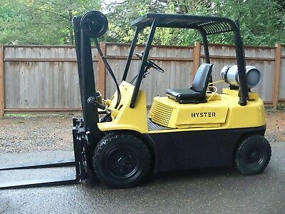 Hyster H60 Traction Air Tire Lp Propane Forklift 6000 Lb Side Shift 2 Stage Mast