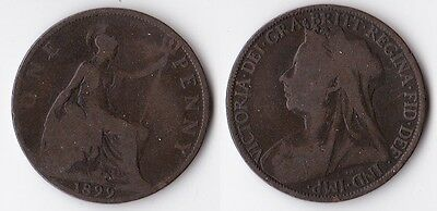 1899 Great Britain 1 penny coin