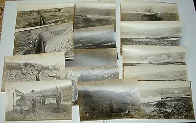 Lot Of 14 - 1920's Gold Panning - Sluice - Fishing - Photos