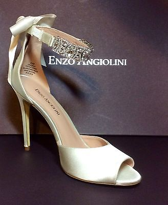 """eanordia"" Enzo Angiolini Lavish Bridal Stilettos Size 8.5 Satin Upscaled Offer?"