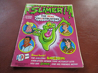 Vintage Slimer The Real Ghostbusters Diamond Sticker Book