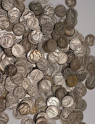 90% Silver Coin Lot , Mercury Dimes , Circulated, Choose How Many!