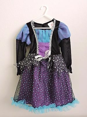 Rubies Starbright Witch Halloween Costume Dress Up Girls Small 4-6 Black Purple