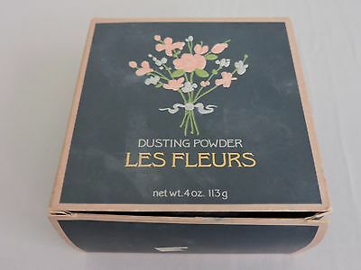 Les Fleurs Dusting Powder 4 oz Alyssa Ashley 7734 Opened Beauty nearly full jar