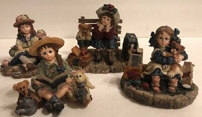 LOT 4 Boyds Yesterday's Child LE Dollstone Collection Home Again Wannabee Series