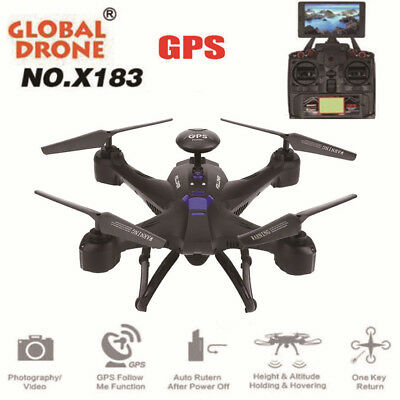 Global Drone X183V2 WiFi FPV 6Axle 1080P HD Camera GPS Brushless Quadcopter Toys