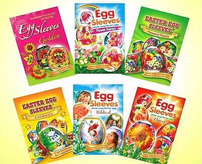 6 packages Easter egg Sleeves Pysanka Shrink Wraps Pysanka Decoration