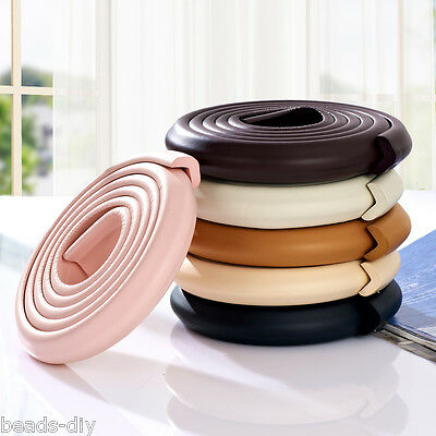 BJ Kids Baby Safety Rubber Foam Bumper Strip Safety Table Edge Corner Protect 2M