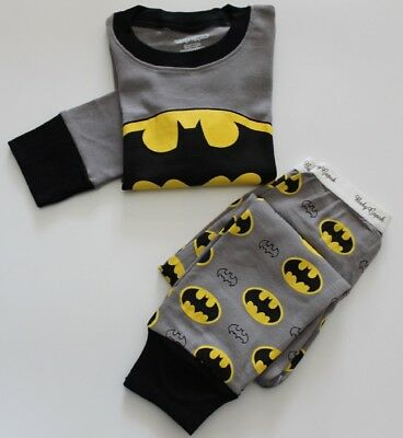 2017 Boy's Batman pajamas set size 3 Long sleeves pants Kids cotton sleepwear
