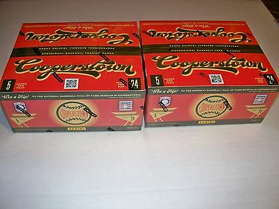 2 Box Lot Panini Cooperstown 2012 Baseball Retail 24 pack boxes Factory Sealed