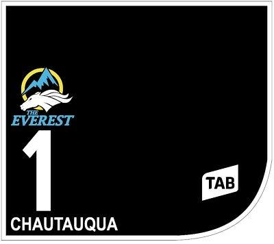CHAUTAUQUA Original Signed Saddle Cloth from The TAB Everest