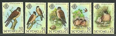 "Seychelles 1980 Very Fine MNH Stamps Scott # 447a-e CV 5.75 $ "" Birds """