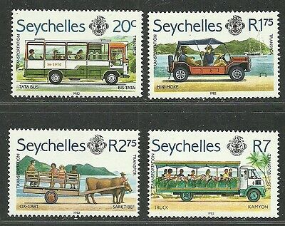Seychelles 1982 Very Fine MNH Stamps Scott # 511-514 CV 2.55 $  Transports