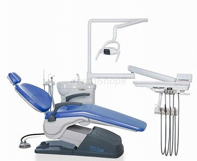 US Stock TUOJIAN A1 Dental Unit Chair Hard leather skyblue 4holes Local Pick up