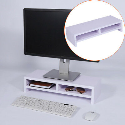 Wooden Monitor Stand LED LCD Monitor Riser Desktop Computer Display Bracket AU