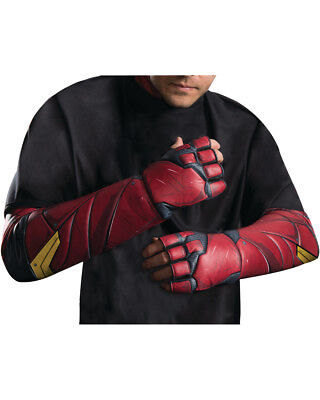 Adult's Mens DC Comics Justice League The Flash Gloves Costume Accessory