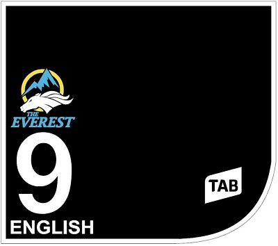 ENGLISH Original Signed Saddle Cloth from The TAB Everest