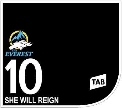 SHE WILL REIGN Original Signed Saddle Cloth from The TAB Everest