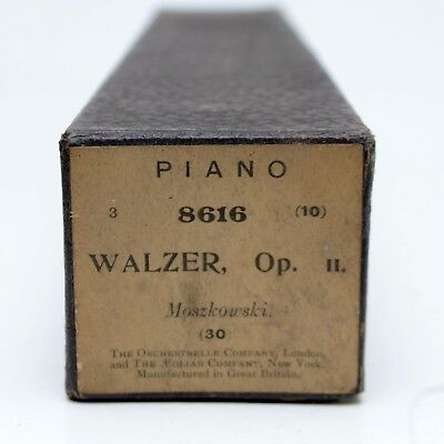 Antique Piano Roll 8616 Walzer Op 11 Moszkowski