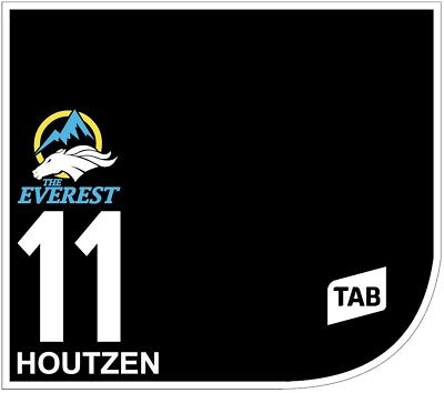 HOUTZEN Original Signed Saddle Cloth from The TAB Everest