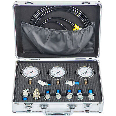 Excavator Hydraulic Pressure Guage Test Kit 9000PSI Lightweight 9In1 Testing