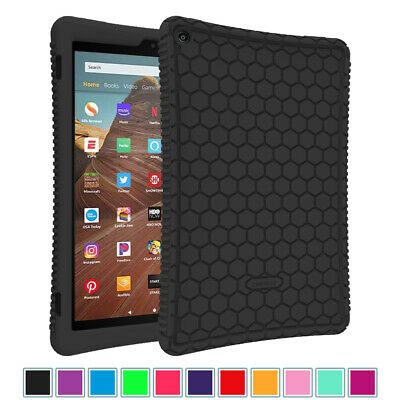 """For Amazon Fire HD 10 ( 7th, 2017 ) 10.1"""" Silicone Case Shock Proof Back Cover"""