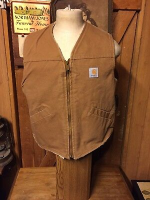Vintage Carhartt Union Made Vest Sherpa Lined XL