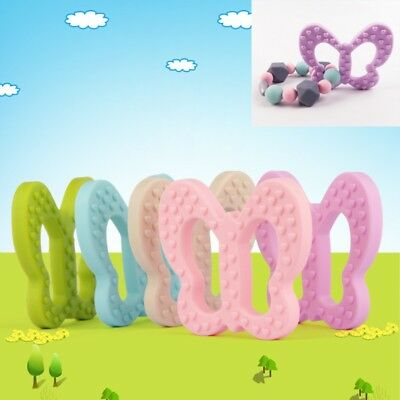 Silicone Baby Teething Butterfly Shaped Toy Food Grade Teether Grind Babys Teeth